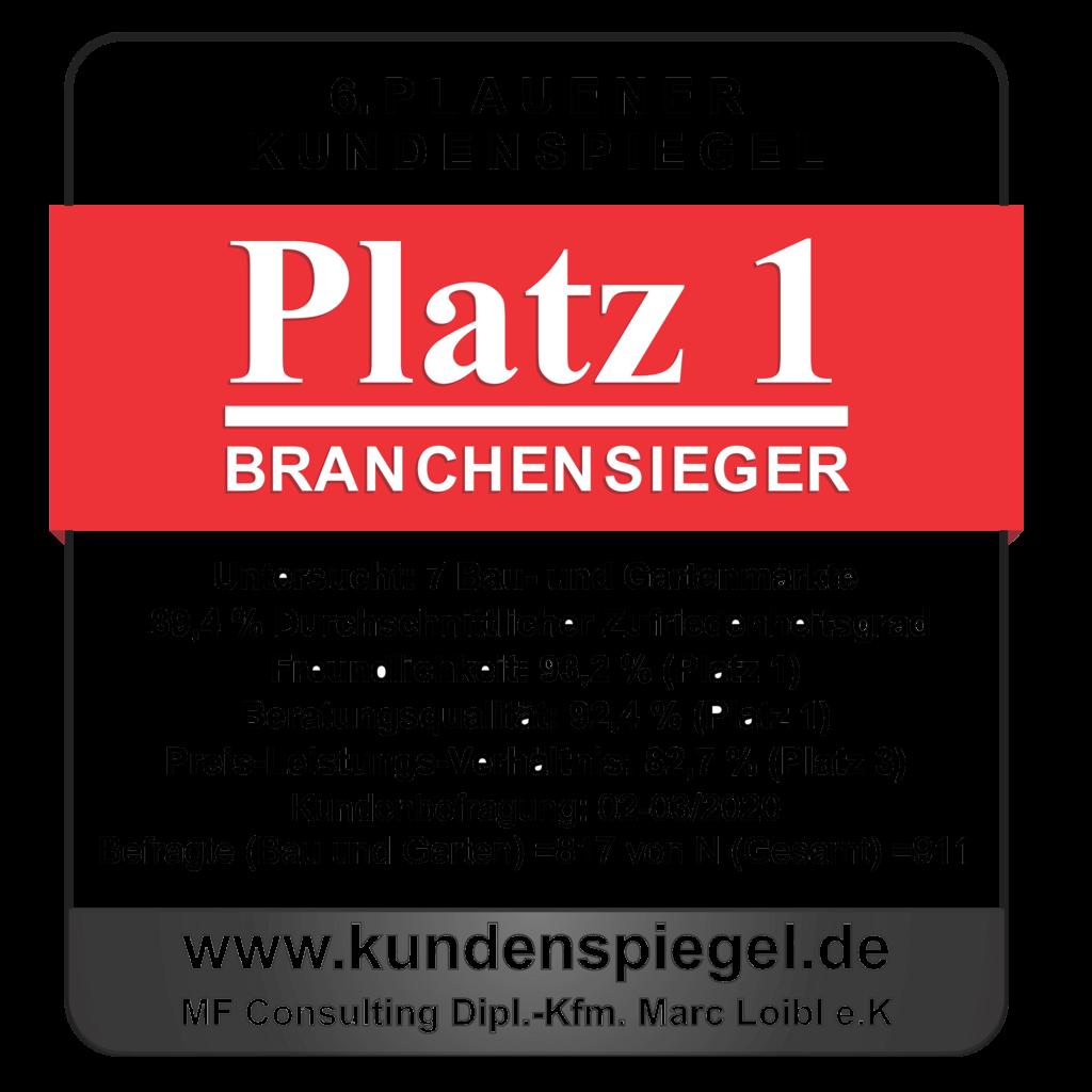 Plauener Kundenspiegel-Siegel 2020
